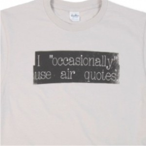 airquotes